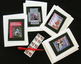 Photography Magazines of Yesteryear Blank Notecard Set of 4