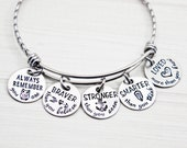 Always Remember You Are Braver than You Believe Stronger than You Seem Smarter than You Think Loved More Than You Know Hand Stamped Bracelet