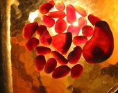 Reserve  for Kenny Taylor 25 deep red black sea glass very rare