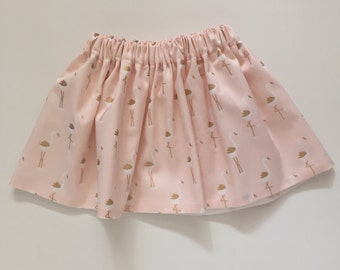Pink and Gold Flamingo Baby Skirt...flamingo Toddler Skirt... Pink Baby Skirt.. Pink Toddler Skirt