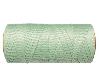 Macrame Cord - 1 spool - Linhasita Waxed Polyester Thread - Knotting Cord - Mint