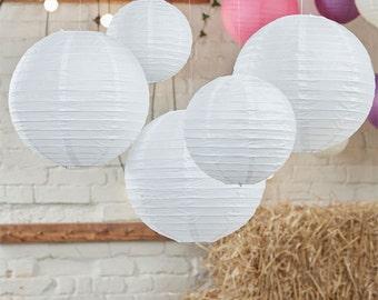 boho wedding decor, white paper lanterns, wedding dcorations, Chinese paper lanterns, hanging decor, anniversary celebration, Beach