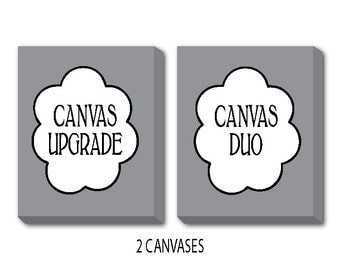 Canvas Duo - Turn any two prints into a canvas - Canvas Wrap Upgrade - 8 x 10, 11 x 14, 12 x 16 or 16 x 20 - Ready to hang