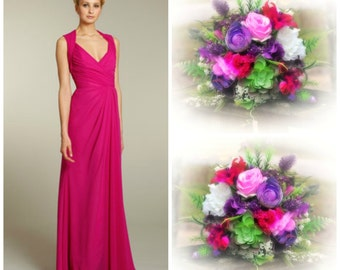 Silk-Real Touch Bride or Bridesmaids bouquet