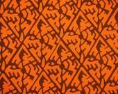 Geometric Vintage Japanese Tango chirimen silk kimono fabric