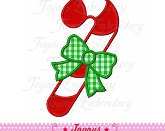 Instant Download Christmas Candy Cane Applique Embroidery Design NO:1847
