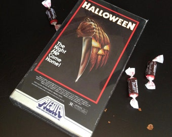 Vintage Halloween VHS John Carpenter's HALLOWEEN 1978 Media OOP Collector's Horror Film