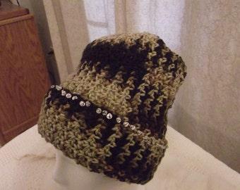 Crochet Hat in Brown