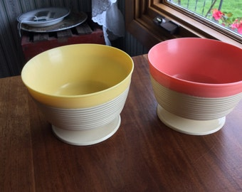 Raffiaware Pedestal Dessert Bowls 2