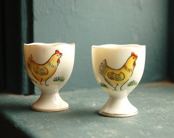 Set of two. Vintage Japanese Egg Cups.