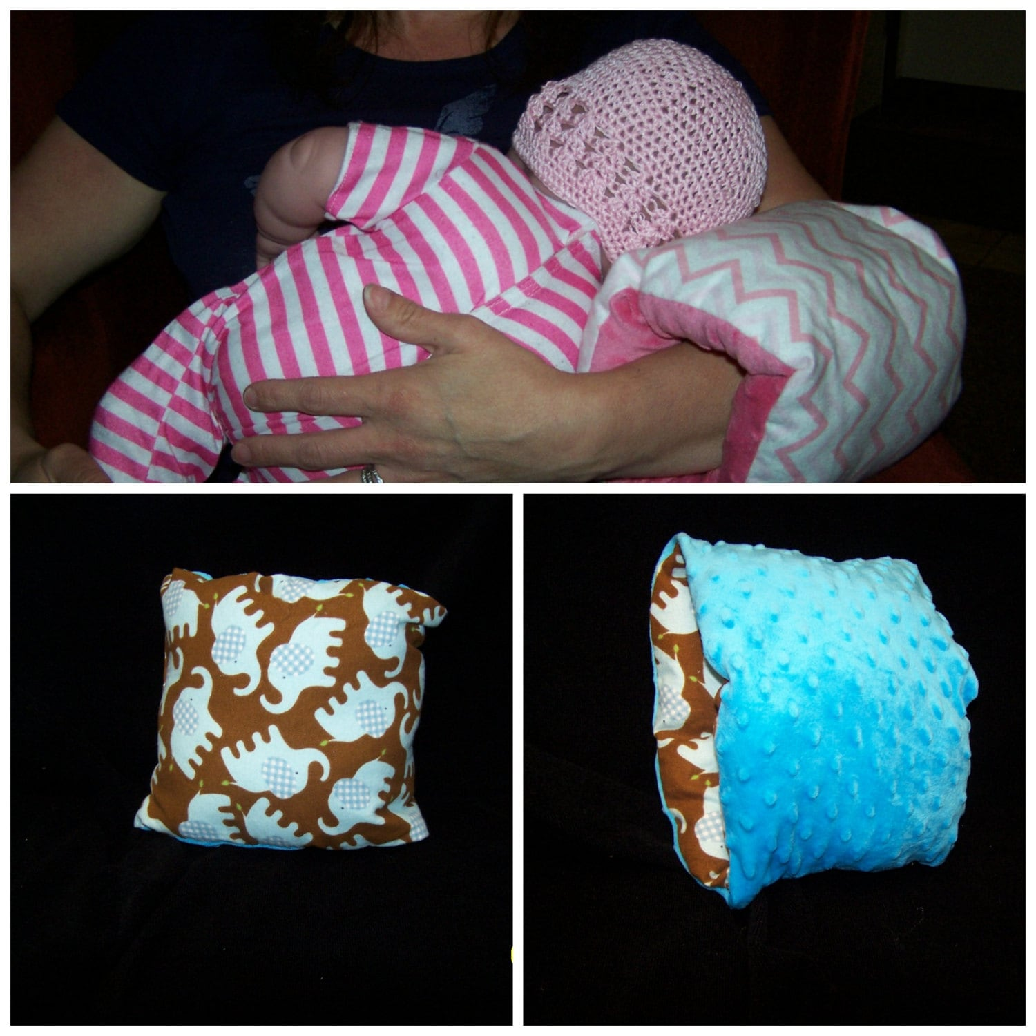 Baby elephant arm pillow great for feeding baby or just