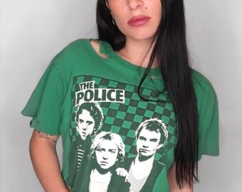 The Police Distressed Crop Tee