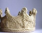 Crown NATURAL Prince Princess Headband Lace knit - Many sizes