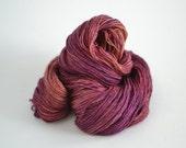 Hand dyed yarn pick your base - Goa - sw merino cashmere nylon fingering dk worsted