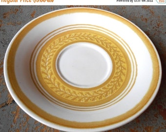 ON SALE Vintage Plate, Saucer, Gold, Mustard, Yellow,  Cake Plate, Tea Cup Saucer, Bread Plate, Small Plates