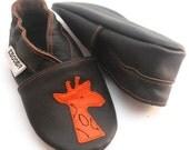 soft sole baby shoes children girl boy gift new giraffe 6 12 m  ebooba 1-2