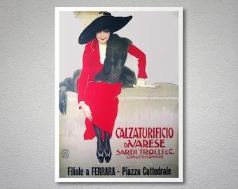 Calzaturificio Divarese Vintage Poster - Poster Paper, Sticker or Canvas Print / Gift Idea