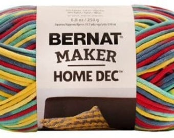 Bernat Maker Home Dec Yarn in Fiesta Variegate