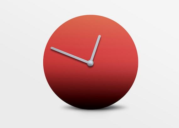 Faris by Hey Fishy,Premium gradient red designer wall clock