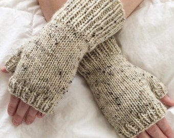 Rustic Knit Fingerless Gloves