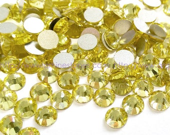 1440 pcs SS10 (2.8mm) High Quality Crystal Flatback Rhinestones - 2028 Pale Yellow (Jonquil 213) No Hotfix