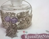 Bottle Charms with Snowflakes - Wine Bottle Charms - Christmas Snowflakes