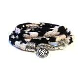 Yogi Wrap Bracelet - Om Jewelry - Yoga - Indie - GIFTS For Her - Sisters Gift - Graduation Gift - Stocking Stuffer - Namaste Jewlery