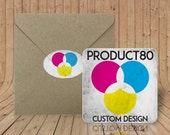 Custom Coasters - Reserved - 200 double sided coasters and 60 envelopes