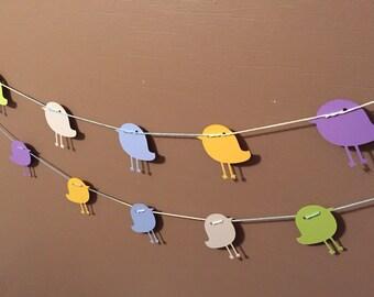 Nursery Birds Garland - Baby Shower Decor - 12 feet long