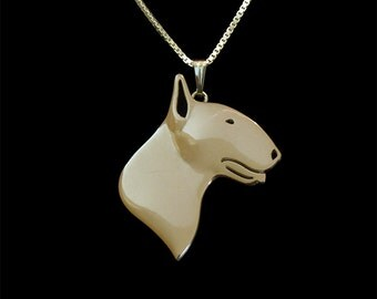 Bull Terrier - gold pendant and necklace.