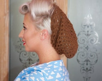 Brown Crochet Snood / Hair Net