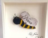 Bee Wall Art, Personalised Bee Decoration, Bumble Bee Decor, Bumble Bee Frame, Bee gift, Bee Art, Bumble Bee Art, Bee print