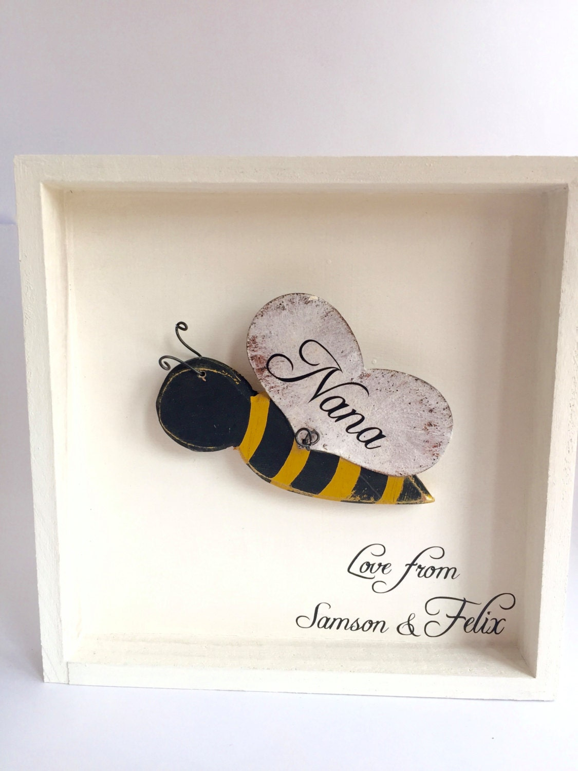 Bumble bee gifts bee wall art personalised bee decor for Bumble bee mural