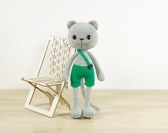 SALE -50%   Amigurumi cat in shorts