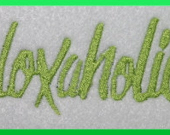Doxaholic Doxie Dachshund Machine Embroidery Design