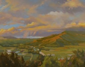 Kauai - Hawaii - North Shore - Hanalei Bay - Mountains - Field - Plein Air - Landscape - Oil Painting - Green - Princeville - Lush - Scenic