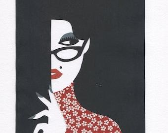 Original Paper cutting, Paper Art, Scherenschnitt DIN A4