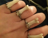 Tiny Bone Ring - Midi, Knuckle, Statement, Stackable