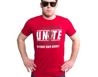 INTROVERTS UNITE Funny T-shirt Men's and Ladies Sizes