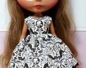 BLYTHE doll Halloween party dress - bare bones