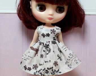 BLYTHE Middie doll Its my party dress - woodland tales