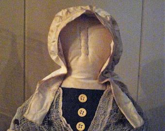 Primitive Prairie Bust Doll
