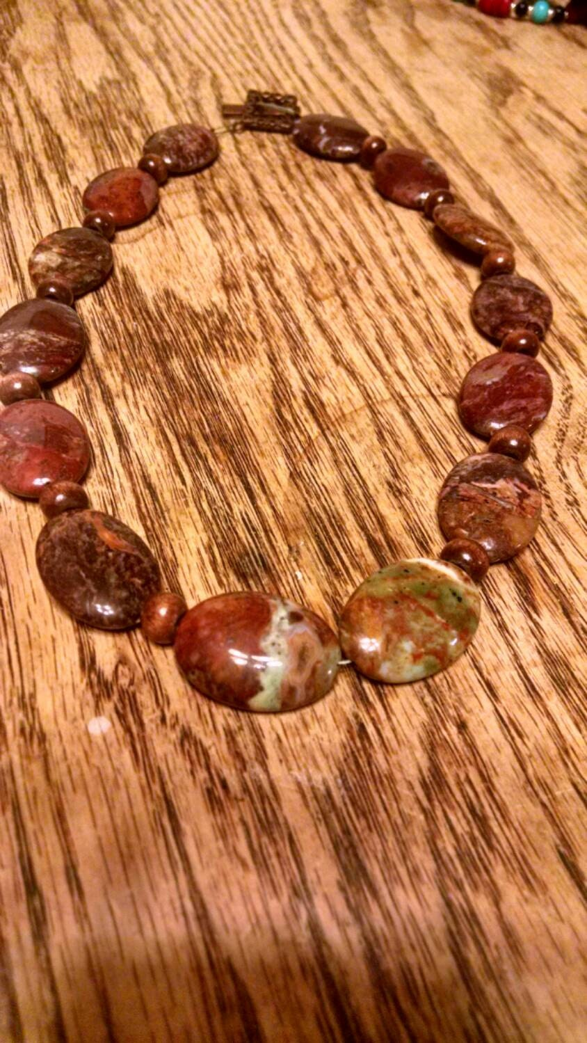 petrified wood necklace