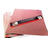 LOT Pink Glitter Scrapbook Paper, Destash, Bulk Lot, Colorbok, Paper Craft Supply