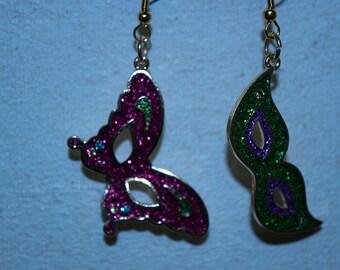 Mardi Gras earring