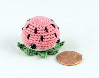 Jumbo MiniPus (Watermelon) - Miniature Octopus Amigurumi Doll Plush