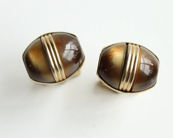 Vintage Anson Brown Moon Glow Cuff Links,  Mid Century Men's Fashion, Men's Accessories, Circa 1950's