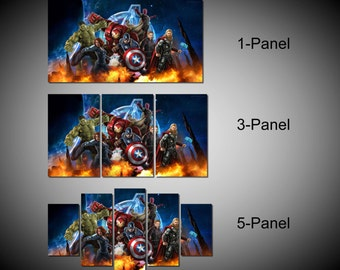 Framed Marvel Avengers Age of ultron Super Hero Wall Canvas Art - Ready to Hang