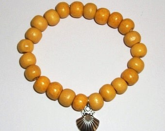Shell Yellow Bead Bracelet - Childrens party bags