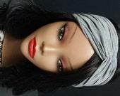 Turban Headband grey headwrap yoga